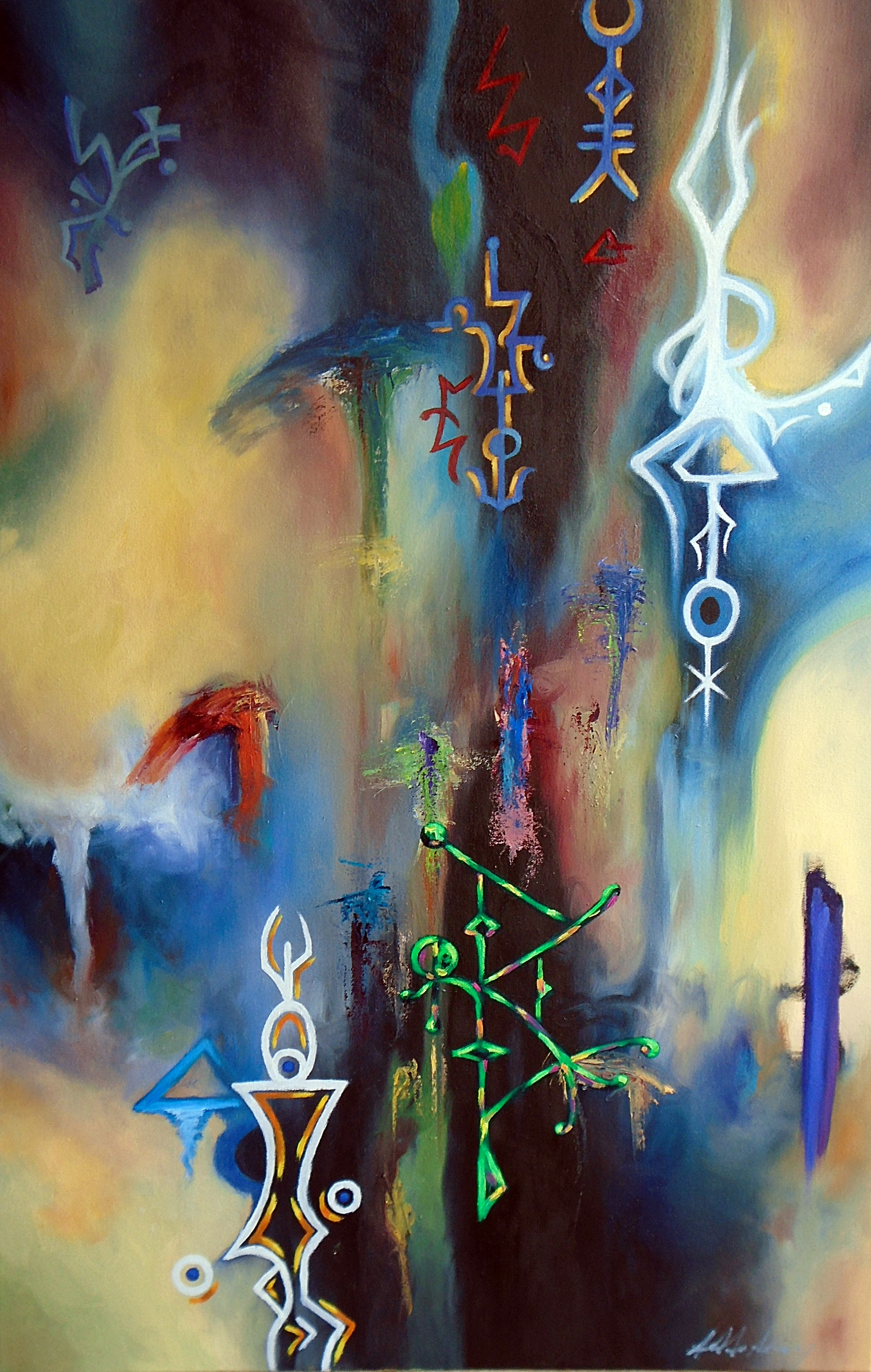 Ethereal Gateway- painting Addo Ashong